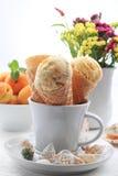 Apricot ice cream Royalty Free Stock Photos