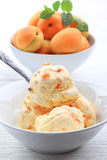 Apricot ice cream Royalty Free Stock Photos
