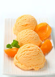 Apricot ice cream Royalty Free Stock Image