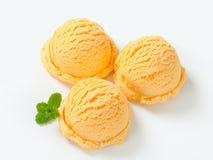 Apricot ice cream Royalty Free Stock Image