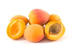 Apricot on isolated Stock Images
