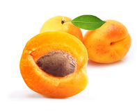 Apricot isolated Royalty Free Stock Image