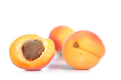 Apricot. Isolated on white background Stock Photo
