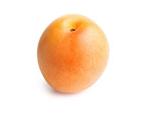 Apricot isolated on white background. Apricot. Ripe fresh apricot isolated on white background Stock Images