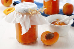 Apricot jam Royalty Free Stock Image