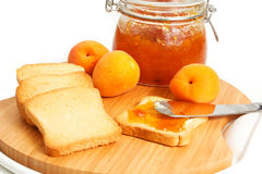 Apricot jam Stock Photos