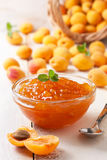 Apricot jam in  bowl Stock Photography