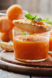 Apricot jam with bread Stock Photo