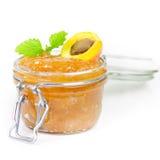 Apricot jam. Close up Stock Images