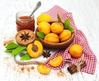 Apricot jam Stock Photography