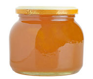 Apricot jam glass Stock Photos