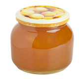 Apricot jam glass Royalty Free Stock Photos