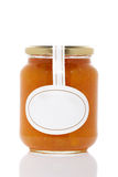 Apricot jam glass jar Stock Photos