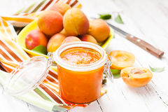 The apricot jam Royalty Free Stock Images