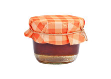 Apricot jam in glass jar Royalty Free Stock Photography