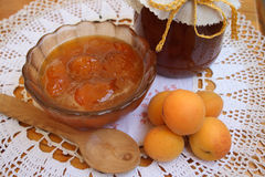 Apricot jam of house preparation Stock Images