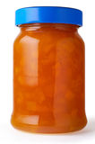 Apricot jam in jar. With clipping path Stock Photography
