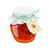 Apricot jam jar. Vintage style Stock Images