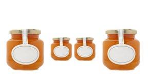 Apricot jam jars Stock Image