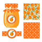 Apricot jam set. Royalty Free Stock Photo