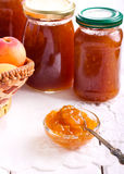 Apricot jam  in small bowl Royalty Free Stock Photography