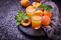 Apricot juice. Fresh summer drink. Apricot juice. Fresh healthy summer drink. Selective focus Royalty Free Stock Photo