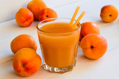 Apricot juice Stock Photography