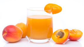 Apricot juice Stock Photos
