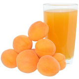 Apricot juice isolated Stock Photography