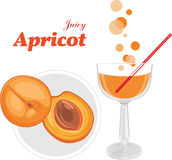 Apricot juice stock photo