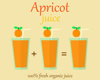 Apricot juice vector flat Stock Photo