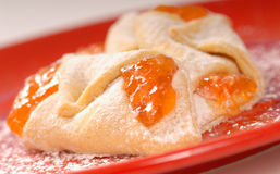 Apricot kolache Royalty Free Stock Images