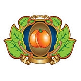Apricot label background Royalty Free Stock Photo