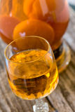 Apricot liqueur royalty free stock photo