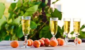 Apricot liquor Stock Photo