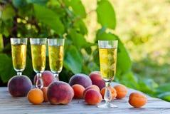 Apricot liquor Stock Photography