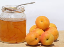 Apricot marmalade Stock Photo