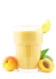 Apricot milkshake Stock Photography