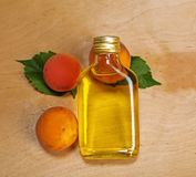 Apricot oil Stock Images