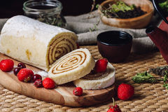 Apricot Paste Filled Roll Royalty Free Stock Image