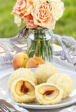 Apricot in pastry, popular austrian dish Stock Image