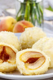 Apricot in pastry, popular austrian dish Stock Images