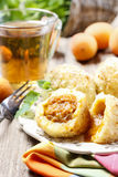 Apricot in pastry, popular austrian dish. Stock Photos