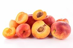 Apricot and peach Stock Images