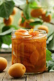 Apricot, peach jam Stock Images
