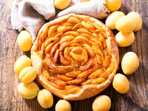 Apricot pie with fresh fruits Royalty Free Stock Photo