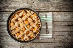 Apricot Pie Pan Royalty Free Stock Image
