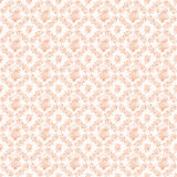 Apricot pink antique wreath roses and fans repeat background Stock Photography