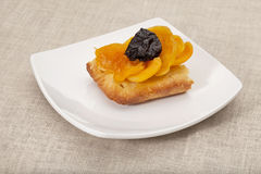 Apricot and prune tart Royalty Free Stock Images