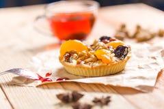 Apricot prune tart Royalty Free Stock Photo